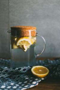 Jug with water & lemons